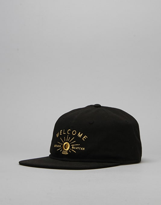 Welcome Dark Energy Unstructured 6 Panel Slider Cap - Black/Gold