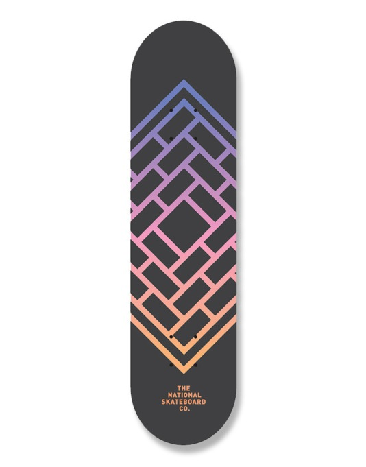 The National Skateboard Co. Fade Team Deck - 8.125""