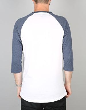 Vans Classic Raglan T-Shirt - White/Heather Navy