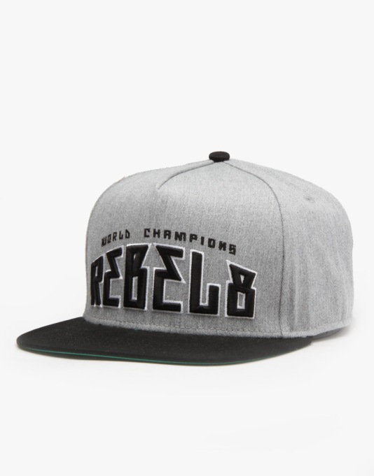 Rebel8 World Champions Snapback Cap - Grey