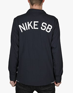 Nike SB Coach Jacket - Dark Obsidian/White