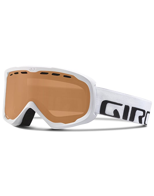 Giro Focus 2016 Snowboard Goggles - White Icon/Amber Rose 16 GBL