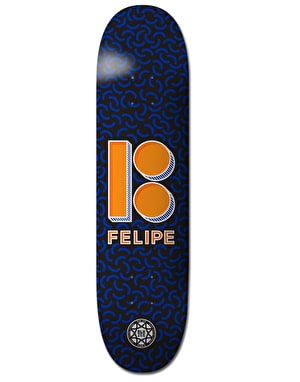 Plan B Felipe Shapes BLK ICE Pro Deck - 7.625