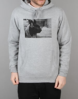 Route One Frenchie Pullover Hoodie - Heather Grey