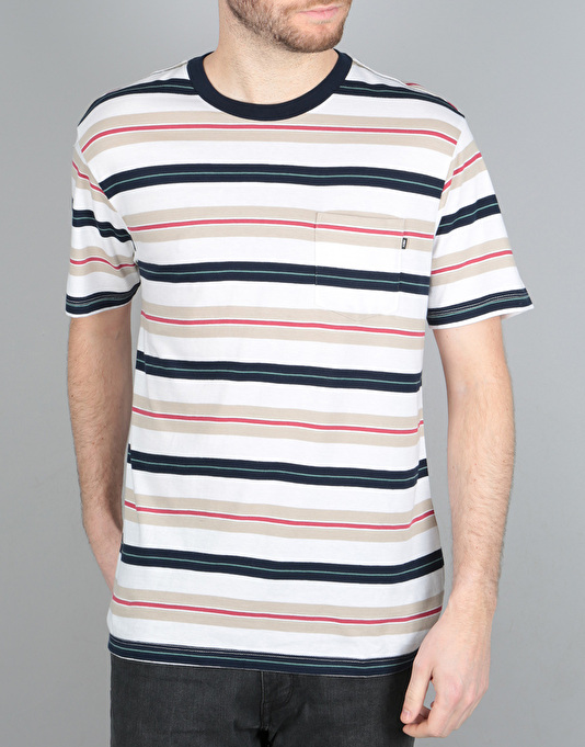Obey Newtown Pocket T-Shirt - Navy Multi