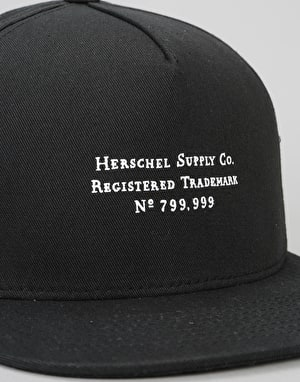 Herschel Supply Co. Trademark Snapback Cap - Black
