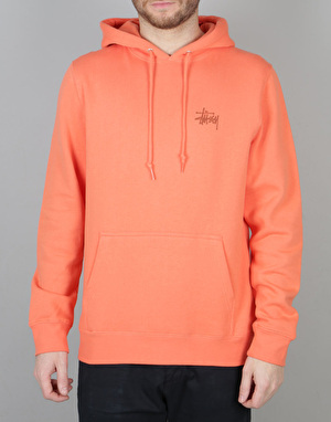 Stüssy Basic Pullover Hoodie - Coral