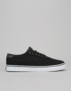 Lakai Manchester Lean Skate Shoes - Black Canvas