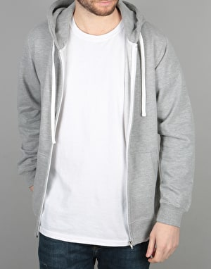 Route One Essentials Zip Hoodie - Heather Grey