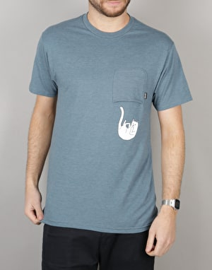 RIPNDIP Falling for Nermal Pocket T-Shirt - Indigo Heather
