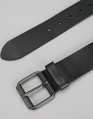 Carhartt Script Leather Belt - Black/Black
