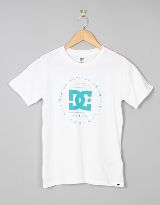 DC Rebuilt Boys T-Shirt - White/Tropical Green
