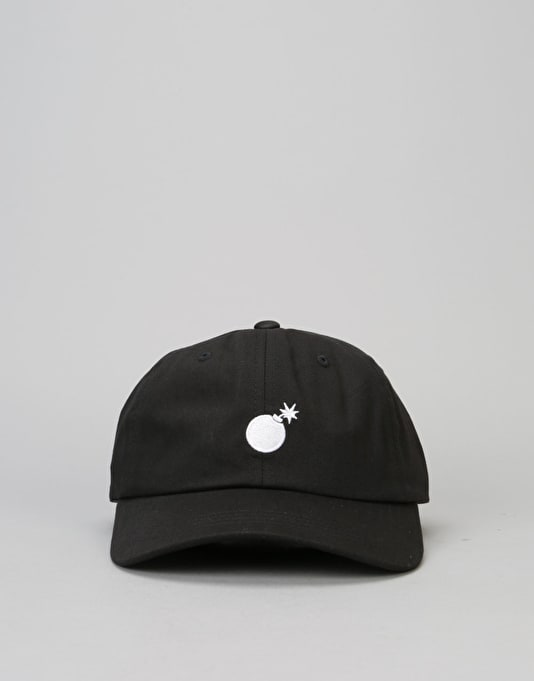 The Hundreds Solid Strapback Cap - Black/White