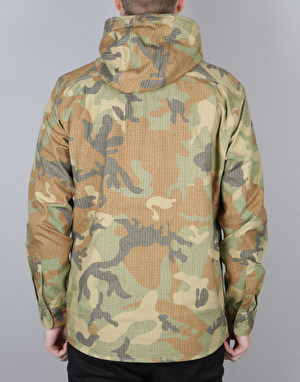 Acapulco Gold Hooded Field L/S Hooded Shirt - Ripstop Woodland