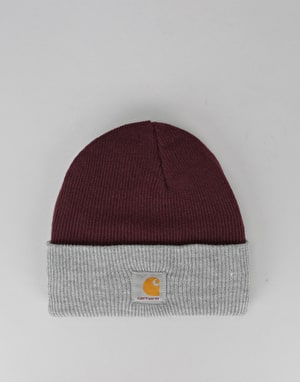 Carhartt Bi-Colored Acrylic Watch Beanie - Burnt Umber/Grey Heather