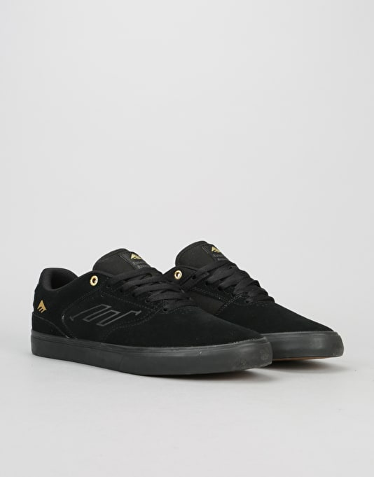 Emerica The Reynolds Low Vulc Skate Shoes - Black/Gold