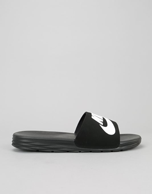 Nike SB Benassi Solarsoft Slides - Black/White