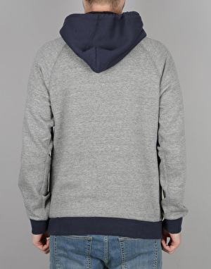 Brixton Huron Hooded Fleece - Heather Grey/Navy