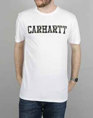 Carhartt S/S College LT T-Shirt - White/Camo Tiger - Laurel