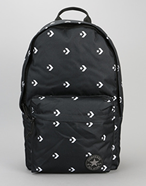 Converse Core Poly Backpack - Star Chevron Repeat Black