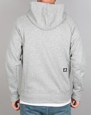 Nike SB Icon FZ Zip Hoodie - Dark Grey/Heather