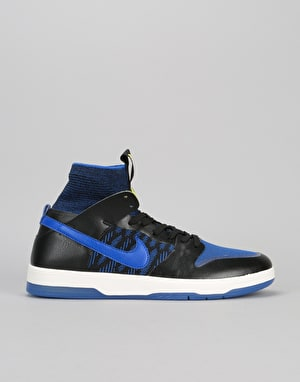 Nike SB Zoom Dunk High Elite QS Skate Shoes - Black/Racer Blue-Sail