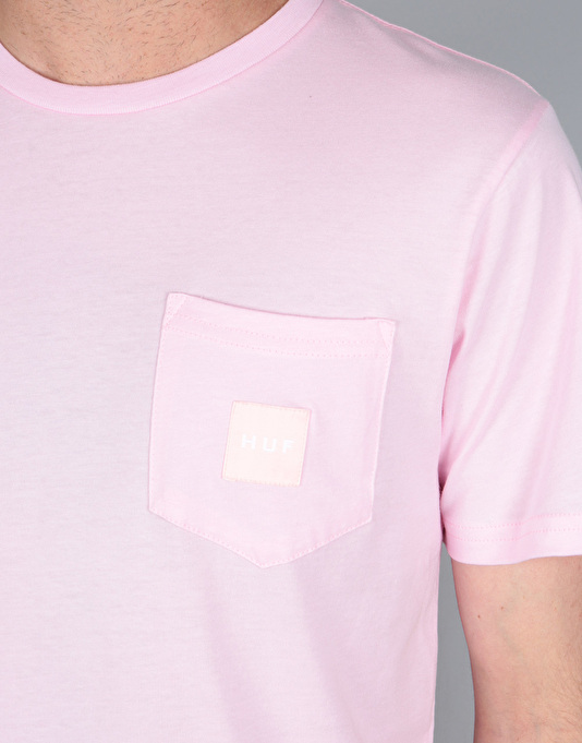 HUF Box Logo Pocket T-Shirt - Pink