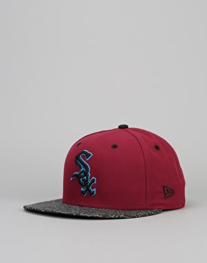 New Era 9Fifty MLB Chicago White Sox Flect Hook Snapback Cap - Red