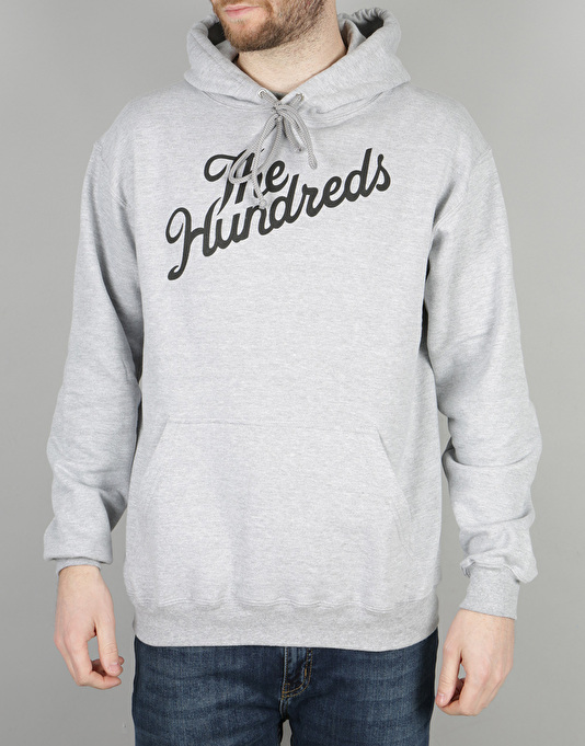 The Hundreds Forever Slant Pullover Hoodie - Athletic Heather
