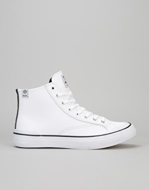 HUF x Sammy Winter Classic Hi Skate Shoes - White Leather
