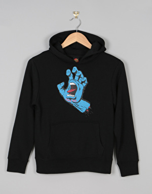 Santa Cruz Screaming Hand Boys Pullover Hoodie - Black