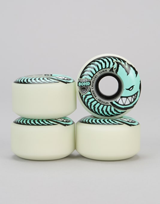 Spitfire Stay Lit GITD Chargers 80HD Team Wheel - 56mm