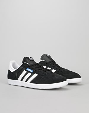 Adidas Leonero Skate Shoes - Core Black/White/Bluebird