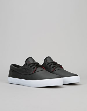 Lakai Camby Skate Shoes - Black Coated Canvas
