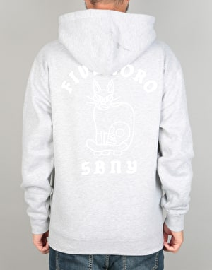 5boro Skull & Cat Pullover Hoodie - Heather