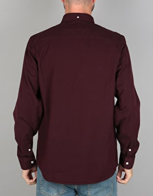 Carhartt L/S Dalton Shirt - Amarone Black (Heavy Rinsed)