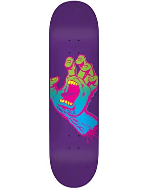 Santa Cruz Neon Screaming Hand Team Deck - 7.75