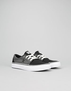 DC Trase TX Boys Skate Shoes - Black/Glow