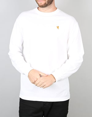 Pizza Emoji L/S T-Shirt - White