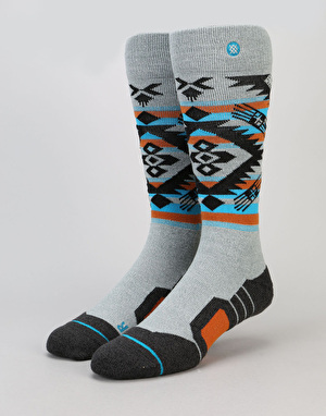 Stance Granite Chief 2017 Snowboard Socks - Grey Heather