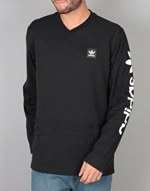 Adidas Rodge Jersey 2 L/S T-Shirt - Black/White
