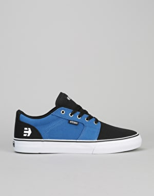 Etnies Barge LS Skate Shoes - Black/Blue/White