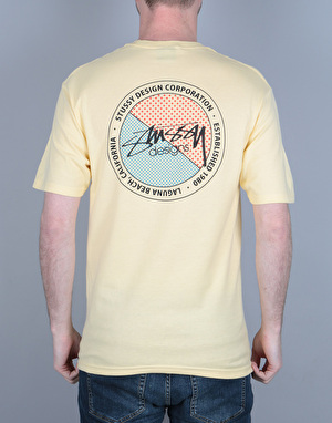 Stüssy Halftone Dot T-Shirt - Pale Yellow