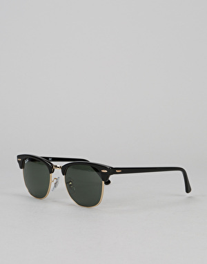 Ray-Ban Clubmaster - Black/Green Classic G-15 Lens RB3016 W0365