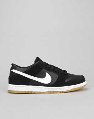 Nike SB Dunk Low Skate Shoes - Black/White-Gum Light Brown