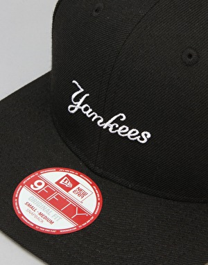 New Era MLB New York Yankees Wool Woodmark Snapback Cap - Black