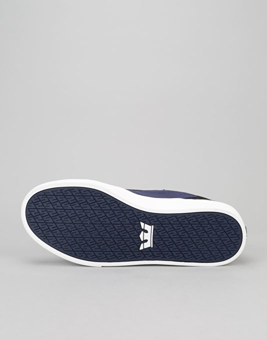 Supra Yorek Low Skate Shoes - Navy/Black/White