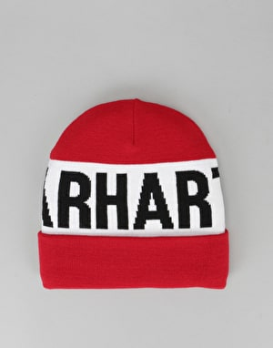 Carhartt Shore Beanie - Fire/White/Black