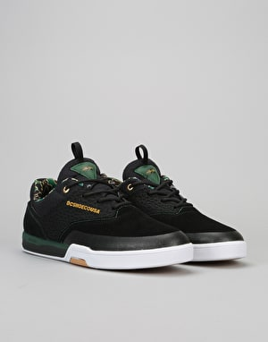 DC Cole Lite 3 S Skate Shoes - Black/Camo Print