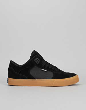 Supra Ellington Vulc Skate Shoes - Black/Gum